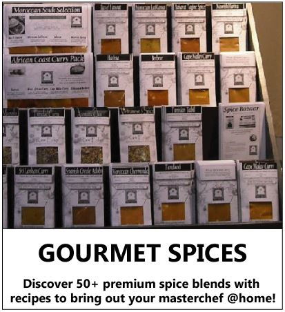 Gourmet Spice Blends to Discover taste cook a diverse world of premium global flavours with recipes bring out your masterchef